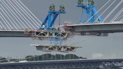 New record: longest free-standing cantilever, Queensferry bridge #Bridge #Record