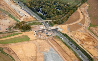 New bridge opens across UK's biggest road project