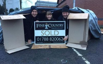 Fine & Country Rugby estate agents sleep rough for local homeless charity