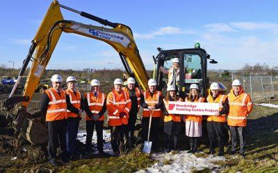 Sod cutting for Scottish Fire and Rescue Service training centre