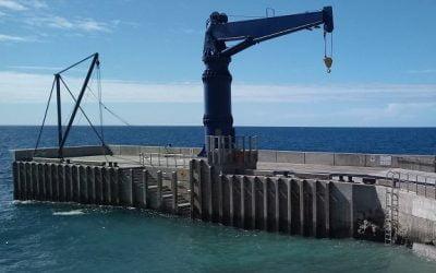 Remote island gets pier upgrade