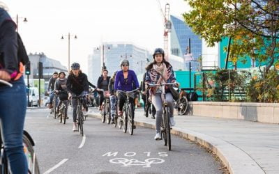 Creating safer spaces for cycling is encouraging more women in London to take to two wheels