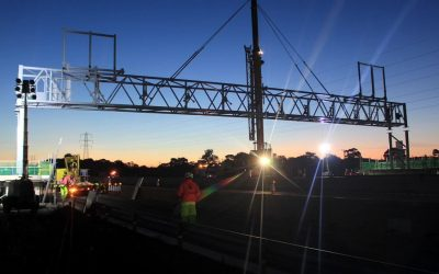 Super structure lifted over M6 as part of major technology upgrade