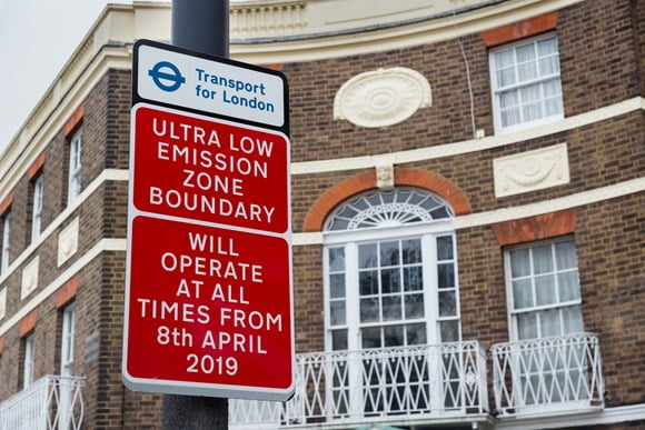 First Ultra Low Emission Zone signs go up in London