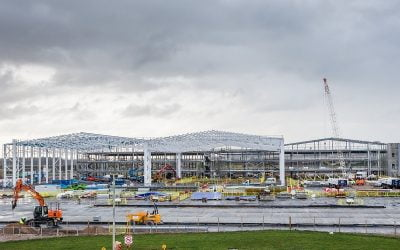 ROBERTSON TOPS OUT RAF AND BOEING DEFENCE AIRCRAFT FACILITY IN LOSSIEMOUTH