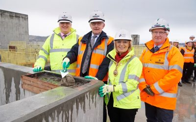 TOPPING OUT MILESTONE MARKS INVERNESS JUSTICE CENTRE PROGRESS