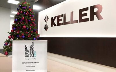 Keller named Britain's Most Admired Company in  Heavy Construction