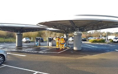 Ringway Milton Keynes completes innovative Electric Vehicle Ultrafast charging hub design and build project