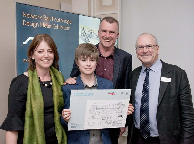 10-year-old boy praised for entry in Network Rail's footbridge design competition