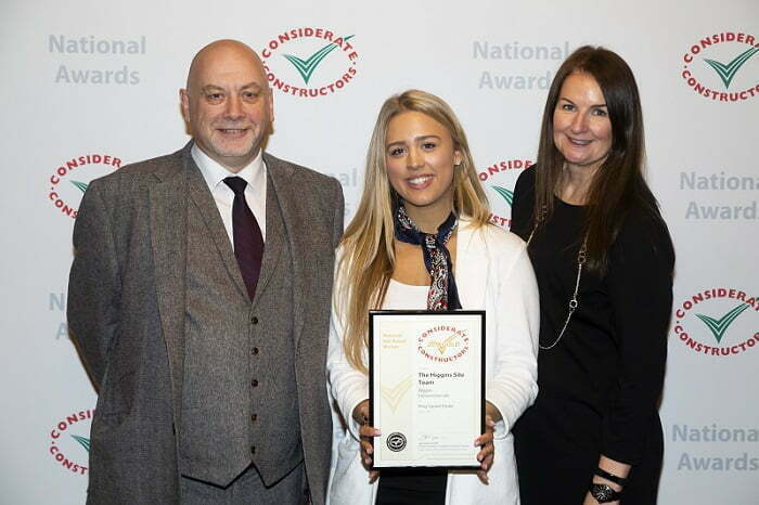 Higgins is triumphant at the Considerate Constructors National Site Awards
