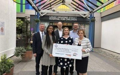 ARC raise £15,000 for Great Ormond Street Hospital