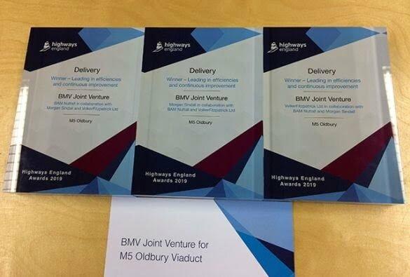 Two Highways England Awards for M5 Oldbury Viaduct