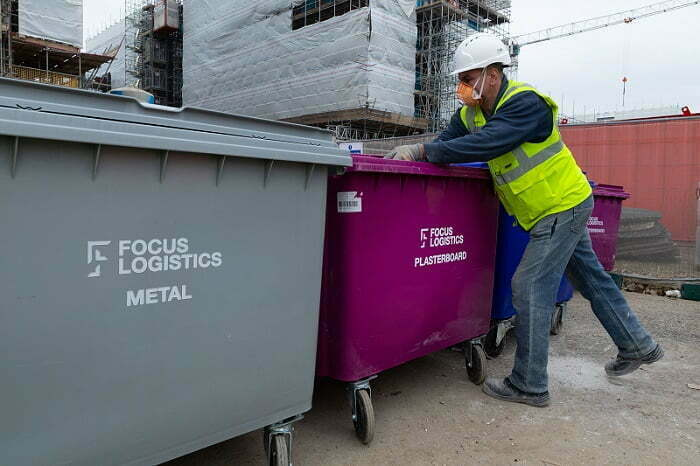 Focus Logistics Reduce Construction Waste by a Colourful 25%