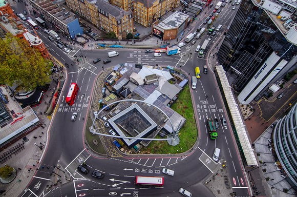 Transformation of the dangerous Old Street roundabout reaches major milestone as roads switch to two-way traffic