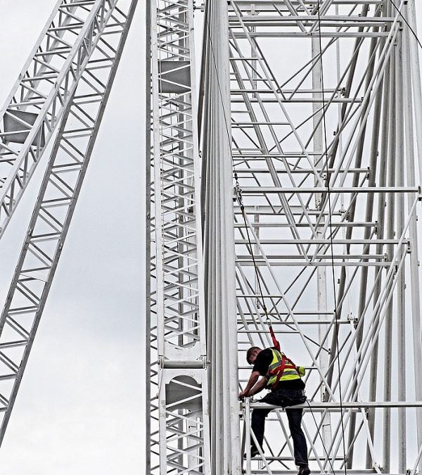 11% of health and safety incidents on major public works involve Working at Height