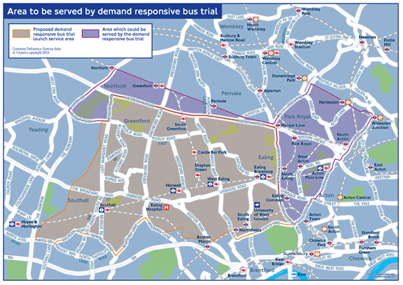 Second on-demand bus trial to be launched in Ealing