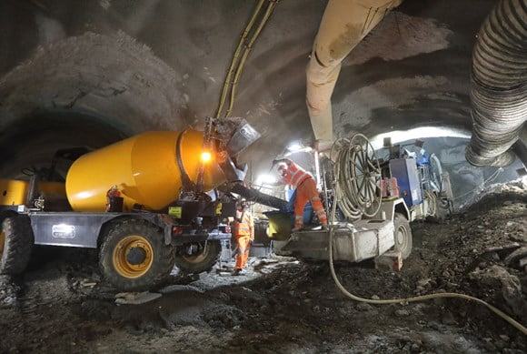Bank station upgrade construction reaches half-way stage