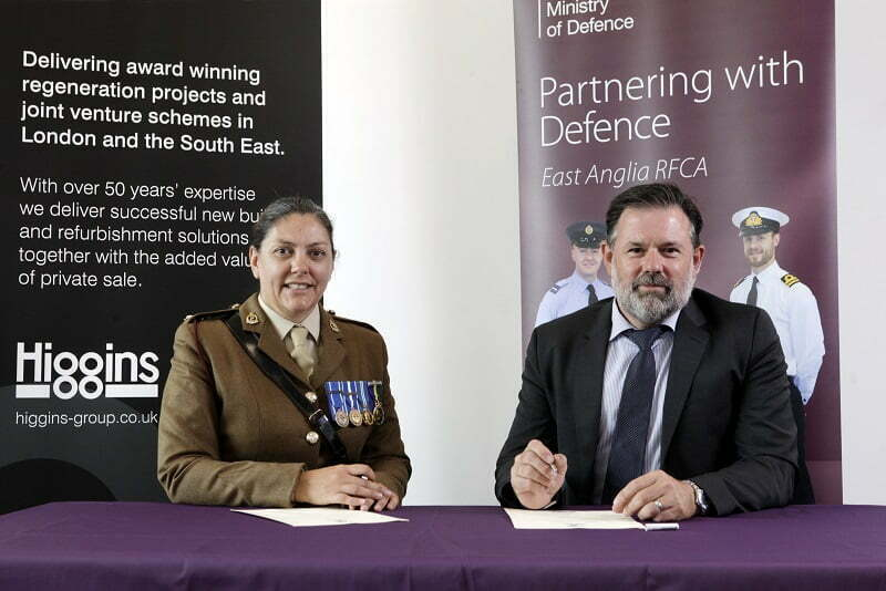 Higgins signs Armed Forces Covenant and commits to supporting the armed forces community