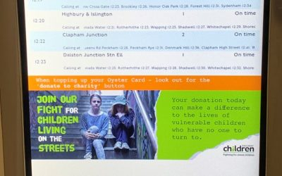 New London Overground ticket machines make it easier to support Railway Children charity