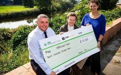 Yorkshire based contractor Esh Construction makes £30k donation to YORhub's YOR4Good fund