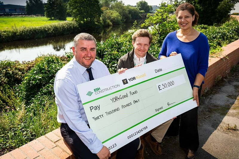 Yorkshire based contractor Esh Construction makes £30k donation to YORhub's YOR4Good fund