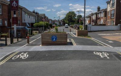 Cycling towards a cleaner city: Balfour Beatty Living Places pedestrianisation scheme features in Transport Network Magazine