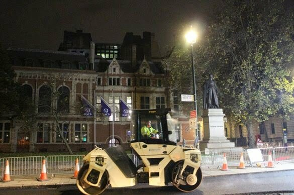 Collaboration keeps traffic moving during Parliament Square resurfacing