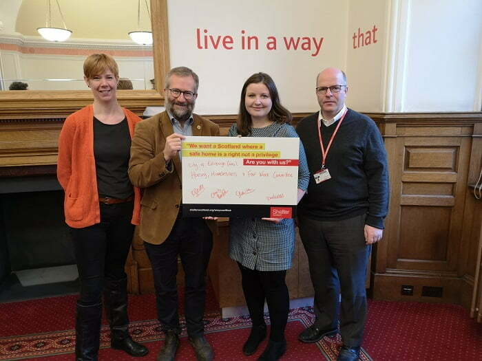 Edinburgh supports Shelter campaign to give everyone the right to a decent home