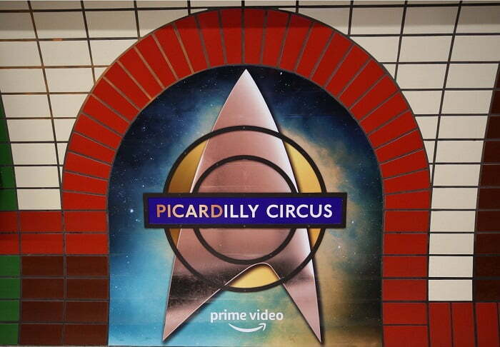 London Tube station transformed into 'PICARDilly' Circus