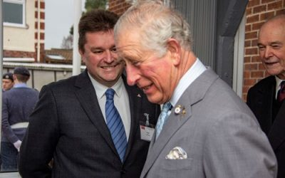 Balfour Beatty welcomes His Royal Highness The Prince of Wales to the Nuneaton Veteran Contact Point