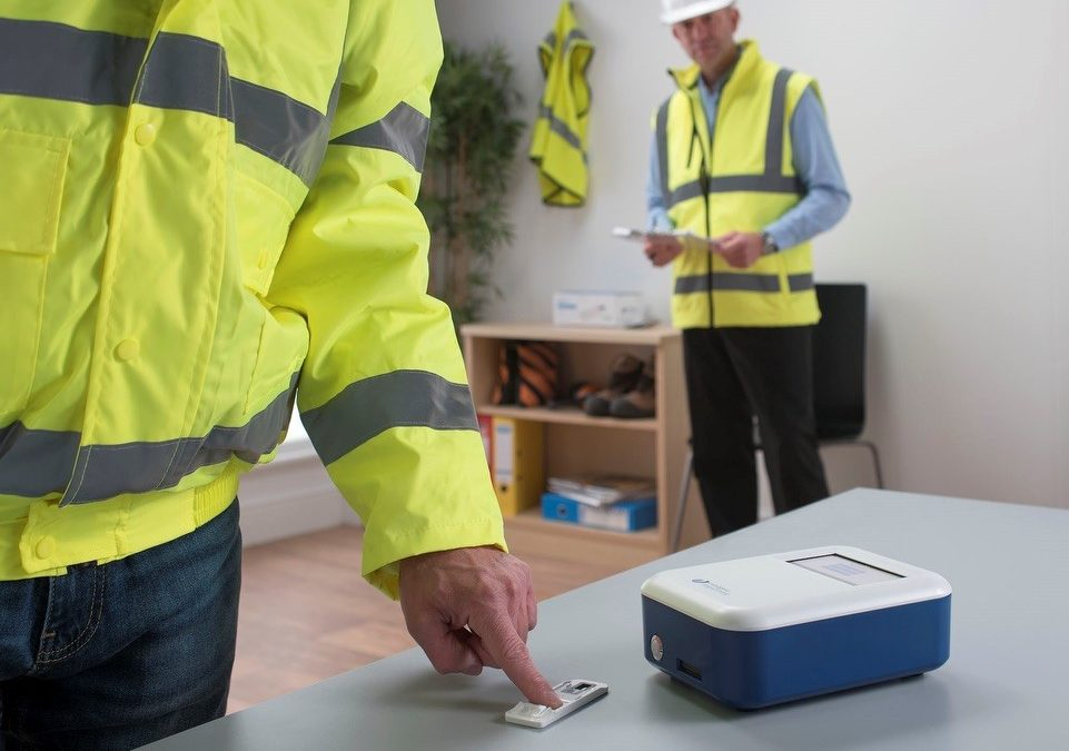 Construction Firms Can Now Maintain Social Distancing When Drug Testing Thanks to Hygienic Fingerprint Test
