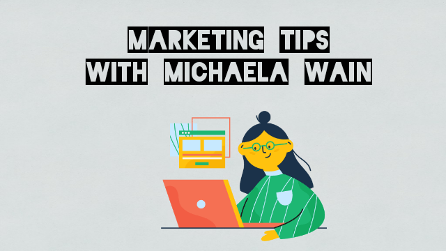 marketing tips with michaela wain cartoon image