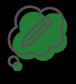 pen speech bubble icon